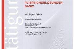 PV-Speicherlösungen-Training, Fronius,  2014