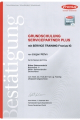 Fronius Servicepartner Plus, Photovoltaikanlagen