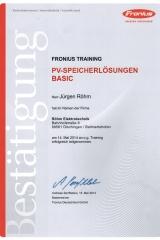 PV Speicherlösungen, Training