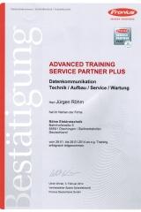 Advanced Training, Fronius Servicepartner Plus
