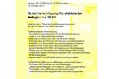 Schaltberechtigung für Mittelspannungsanlagen, 2009