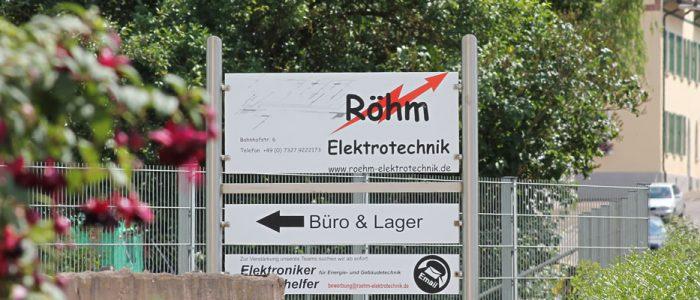 Röhm Elektrotechnik, Geschäft in Balmertshofen